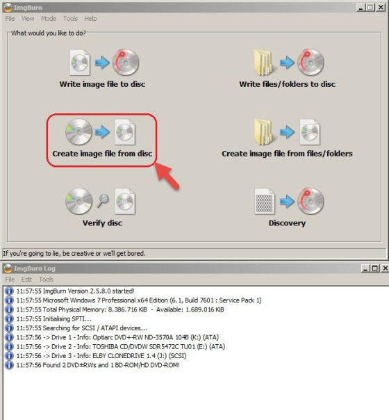 How to Create ISO Files From Discs Using ImgBurn
